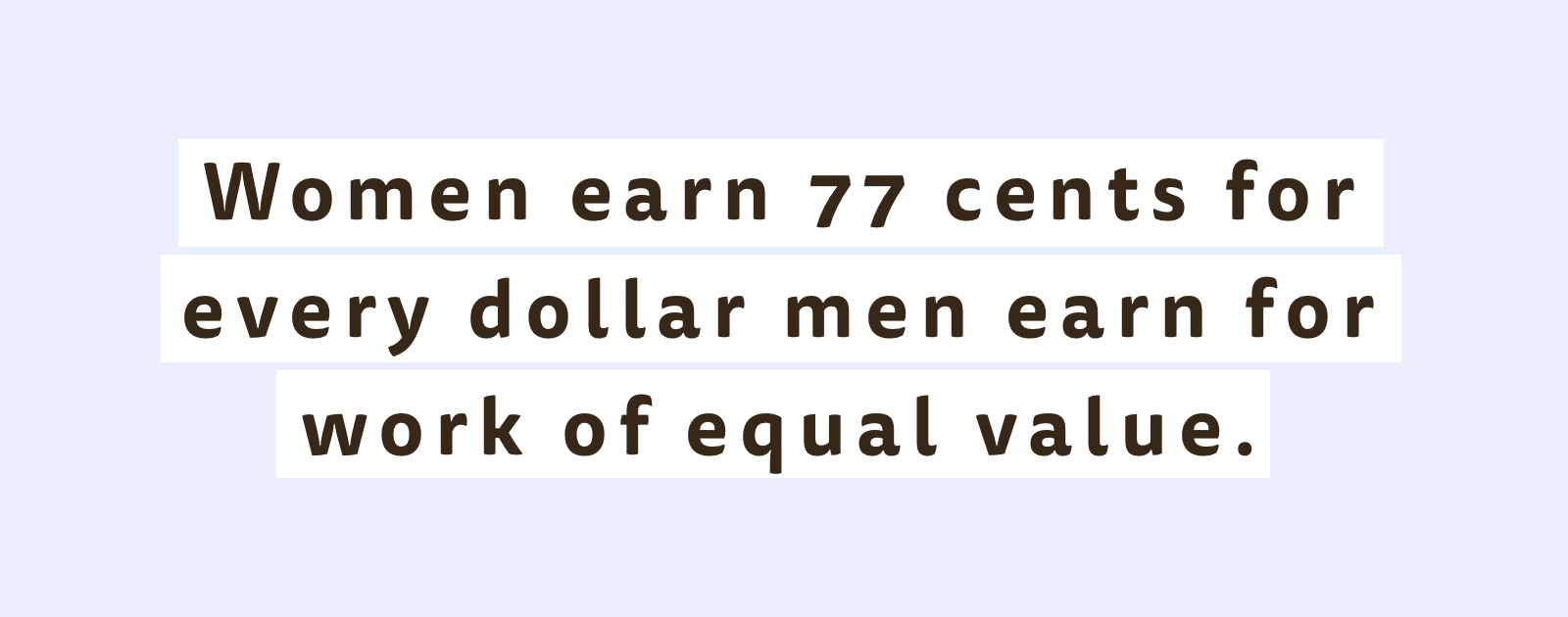 Women earn 77 cents for every dollar men earn for work of equal value - Gurvi Movement