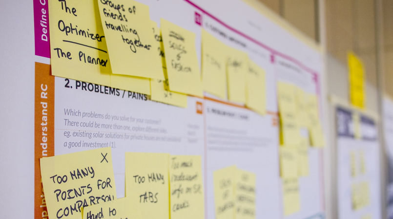 All you need to know about UX Design - And the best UX Designer Portfolios [2021] - post it board