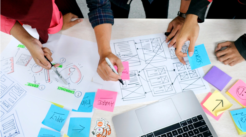 All you need to know about UX Design - And the best UX Designer Portfolios [2021] - wireframing with the team