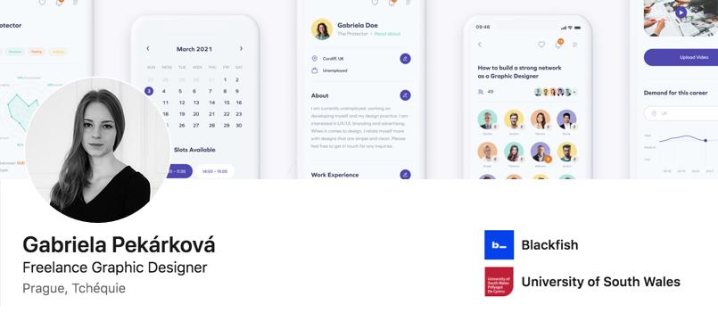 Best UX Designer Portfolios - Gabriela Pekárková