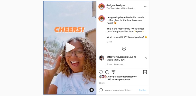 Quick behind the scenes product video for her branding company